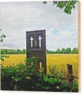 Country Crosses Wood Print