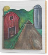 Country Day Wood Print