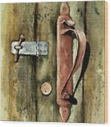 Country Door Lock Wood Print