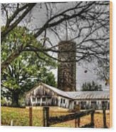 Country Farm Near Collierville, Tn Wood Print