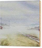 Country Fog Wood Print