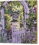 Country Garden Gate Wood Print