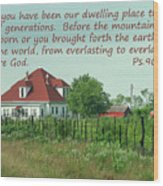 Country Home Ps.90 V 1-2 Wood Print