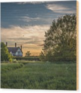 Country House Wood Print