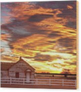 Country House Sunset Longmont Colorado Boulder County Wood Print