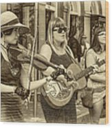 Country In The French Quarter 3 Sepia Wood Print