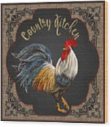 Country Kitchen-jp3764 Wood Print