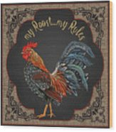 Country Kitchen-jp3767 Wood Print