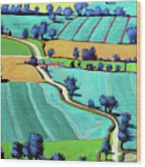 Country Lane Summer II Wood Print