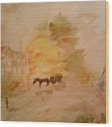 Country Life Wood Print by Paula Maybery