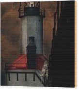 Country Lighthouse Wood Print
