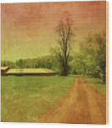 Country Living - Bayonet Farm Wood Print by Angie Tirado