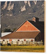 Country Living Boulder County Wood Print