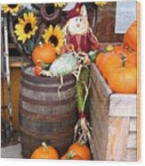 Country Market Wood Print