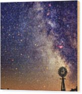 Country Milky Way Wood Print