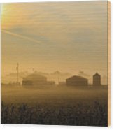 Country Mist Wood Print