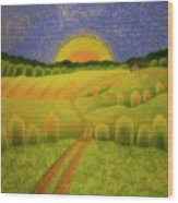 Country Morning Wood Print