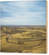 Country Mountain Roads Wood Print