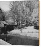 Mabry Mill Wood Print by Ella Char