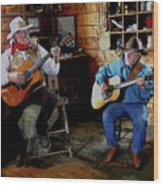 Country Pickin Wood Print