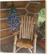 Country Porch Wood Print