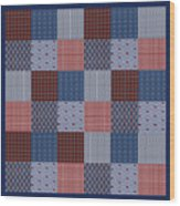 Country Quilt Wood Print