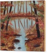 Country Reflections Wood Print