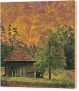 Country Road - Take Me Home Wood Print