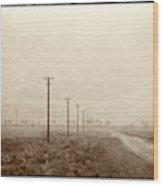 Country Road, Iran Wood Print
