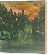 Country Road Wood Print