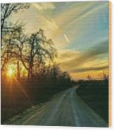 Country Road Please Take Me Home Wood Print