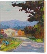 Country Road - Tuscany Wood Print