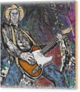 Country Rock Guitar Wood Print