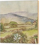 Country Scene Collection 3 Wood Print