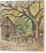 Country Scene Collection Wood Print