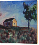 Country School House Wood Print