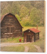 Country Shack Wood Print