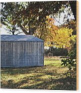 Country Shed Wood Print