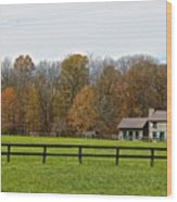 Country Side Home Wood Print