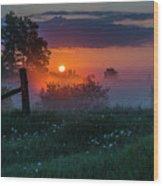 Country Sunrise Wood Print
