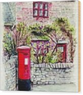 Country Village Post Box Wood Print