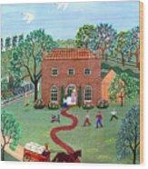 Country Visit Wood Print