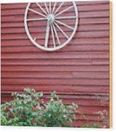 Country Wheel Wood Print
