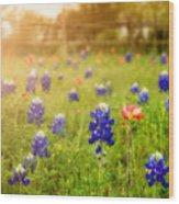 Country Wildflowers Wood Print