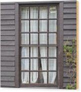 Country Window Wood Print