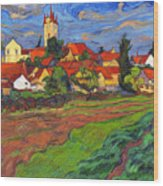 Country With The Red Roofs Wood Print