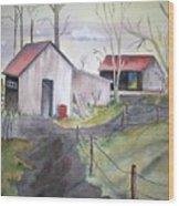 Countryside Dwellings Wood Print