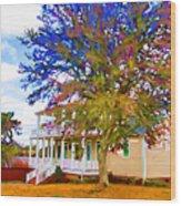Countryside House 1 Wood Print