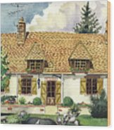 Countryside House In France Wood Print