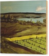 countryside/VINEYARD Wood Print by Marie Bulger